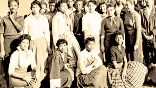 Students at Horace Mann Hi - 1958
