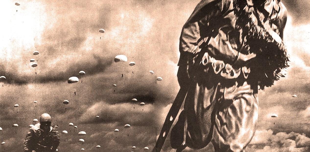 Japanese Paratroopers Land On Palembang - February 1942