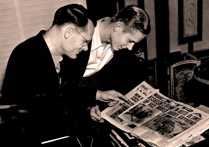 Clifford Clinton and son Edmond - 1939