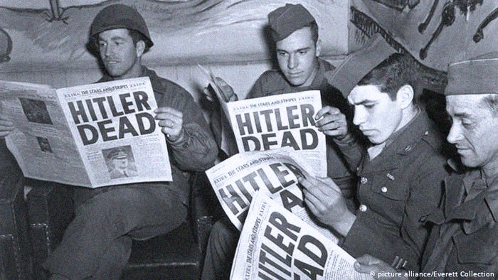Hitler Dead - reports and confirmation