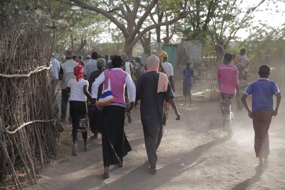 The Dadaab refugee camp in Kenya.
