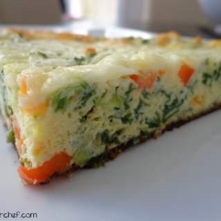 Kale, Basil & Green Onion Vegetarian Frittata