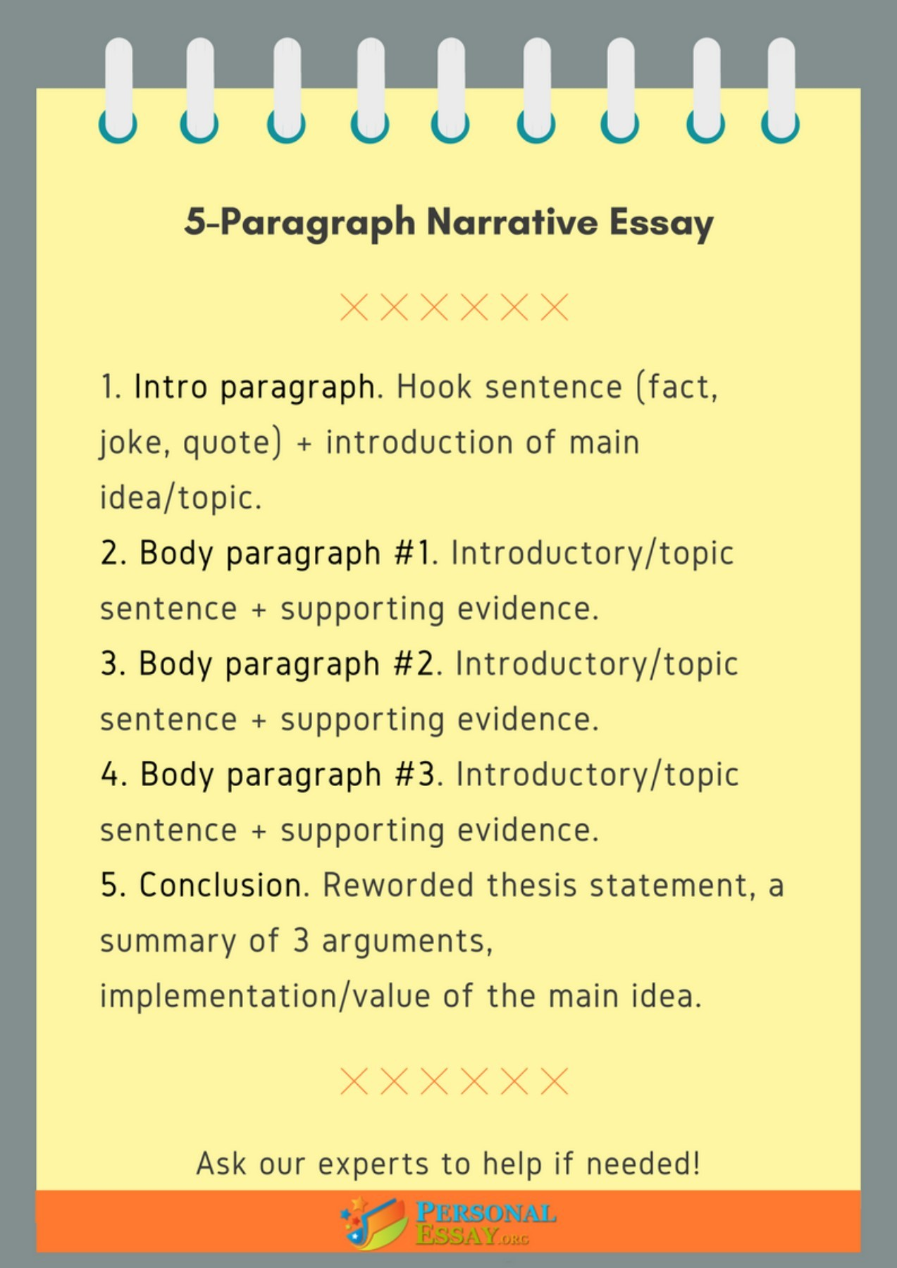 5 Paragraph Narrative Essay Outline