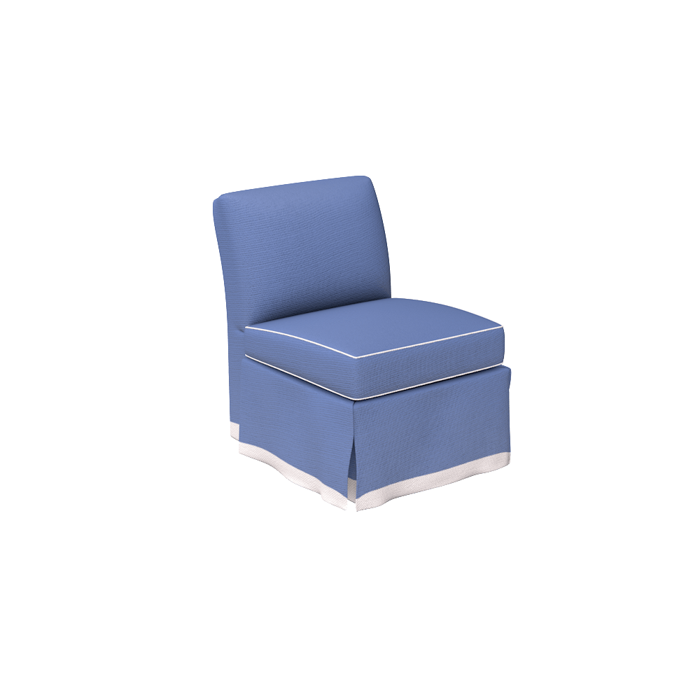 Blue Slipper Chair Upholstered Slipper Chair