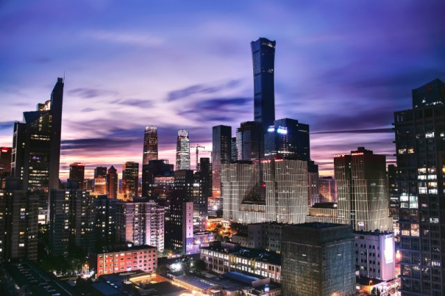 """High-rise buildings in China, the setting for """"The Farewell,"""" one of this year's Sundance films."""
