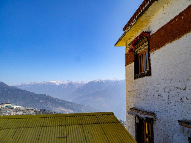 The view of the mountains in Arunachal Pradesh, India's northeastern region