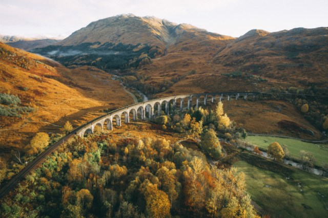 The Glenfinnan Viaduct in fall