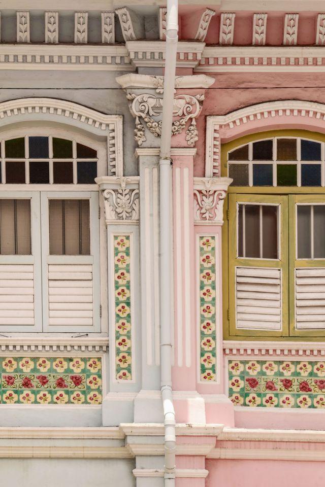 Peranakan shophouses in Singapore's Katong/Joo Chiat neighborhood