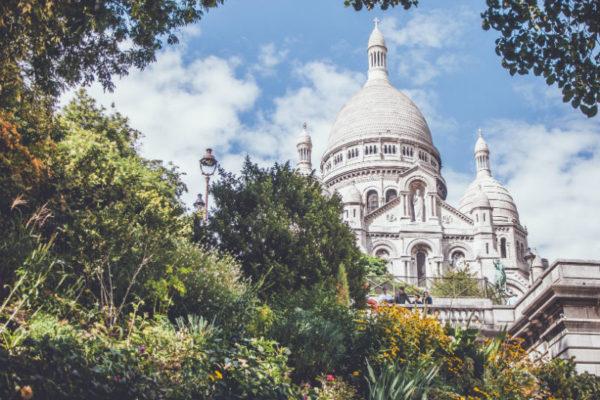The Sacré-Coeur in Paris, France.