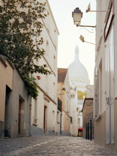 A street leading to the Sacré-Coeur, Montmartre.