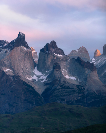 Los Cuernos, Patagonia, at sunrise
