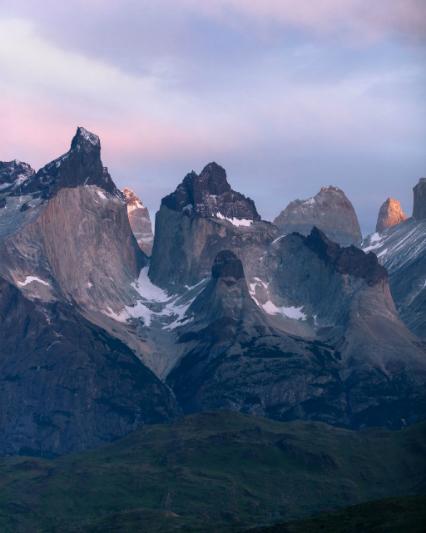 Los Cuernos, Patagonia, at sunrise