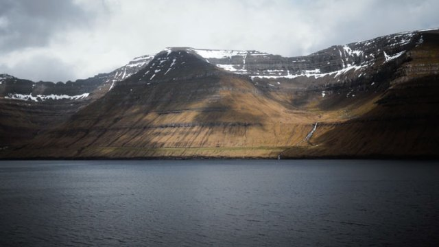 A view of the coast of the Faroe Islands