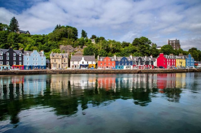 The main street of Tobermory, Scotland