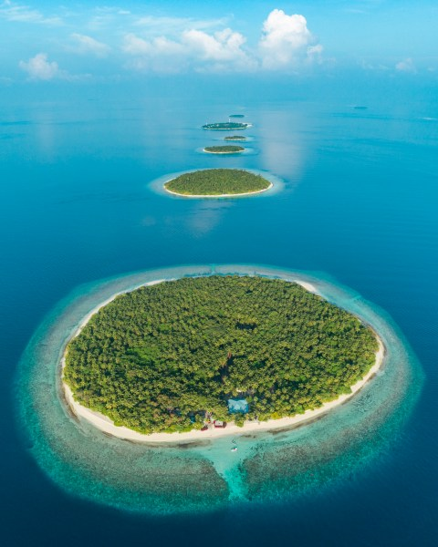 Green Island in Baa Atoll in Maldives