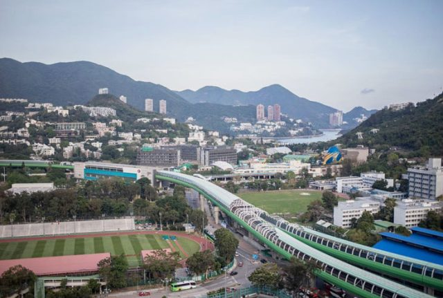 The view of Wong Chuk Hang from Above by Komune