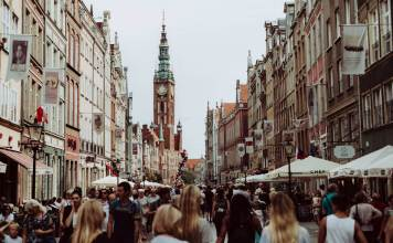 Busy streets of Gdansk, Poland