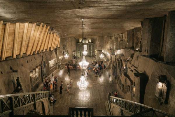 Inside the Wieliczka Royal Salt Mine, Poland