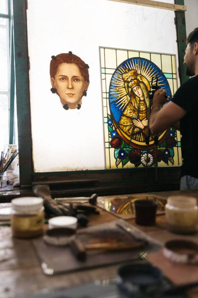 a stained glass workshop in krakow