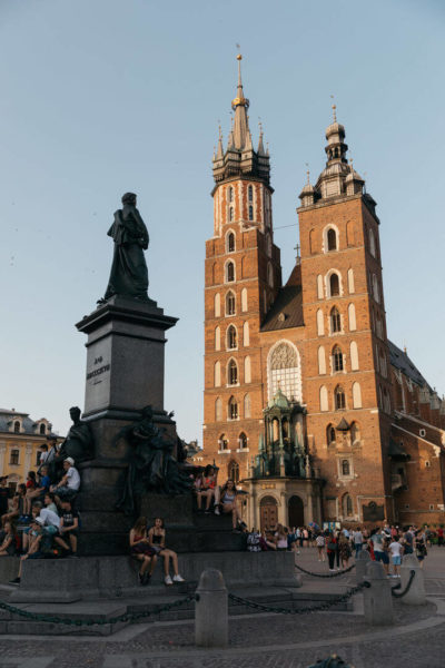 krakow's old town square