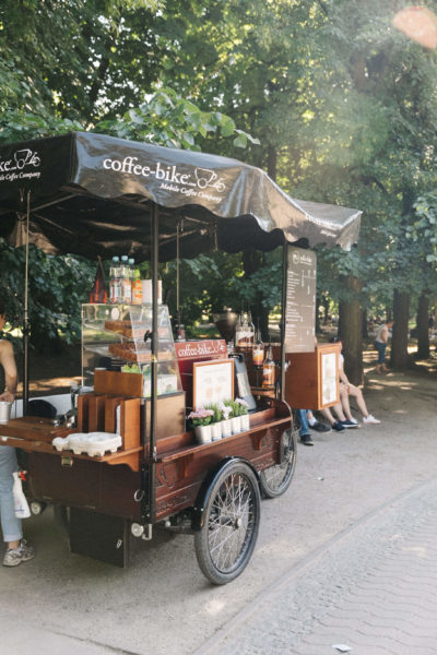 a coffee stall in warsaw
