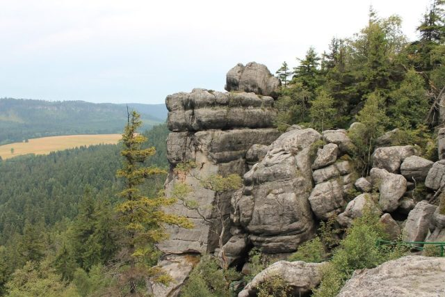 rocks in poland's table mountains national park