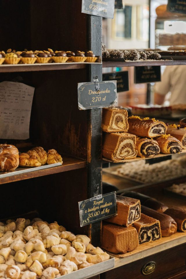 pastries on display in poland