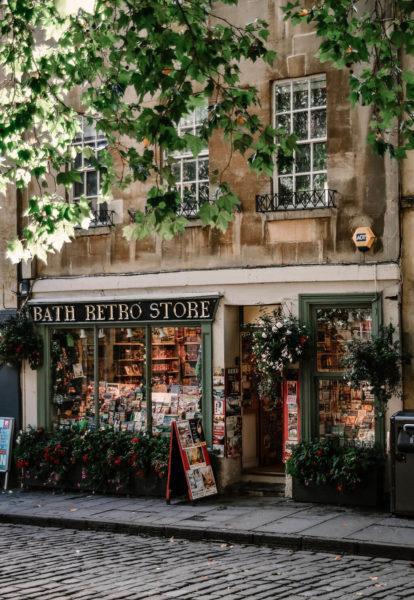 a retro store in bath england