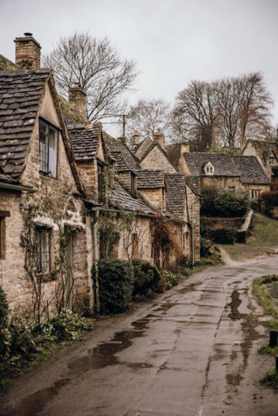 a typical row of houses in british villages