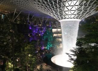 the rain vortex in singapore's changi airport