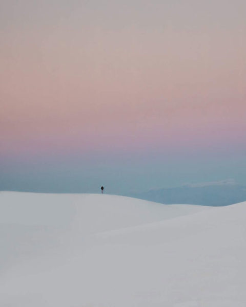 A person in White Sands National Monument