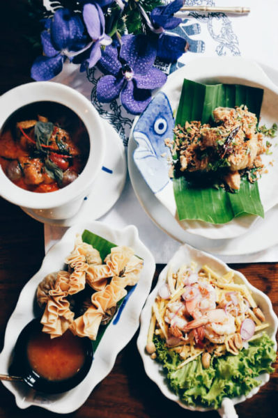 Assortment of Thai dishes