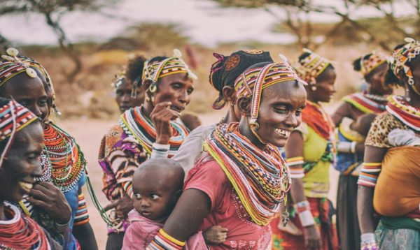 rural women carrying water in kenya