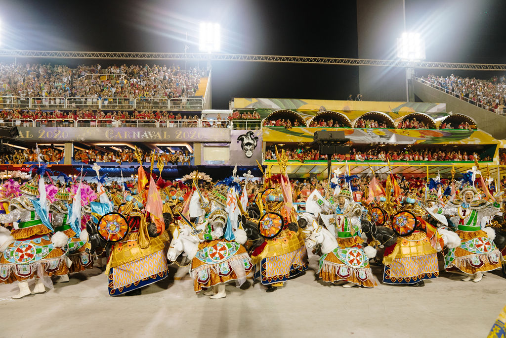 rio carnaval parade at sambadrome