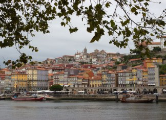 buildings of porto portgual riverfront