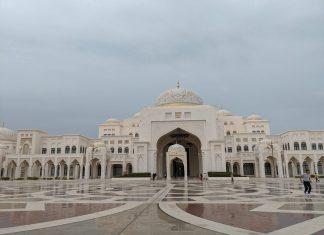 outside of qasr al watan in abu dhabi