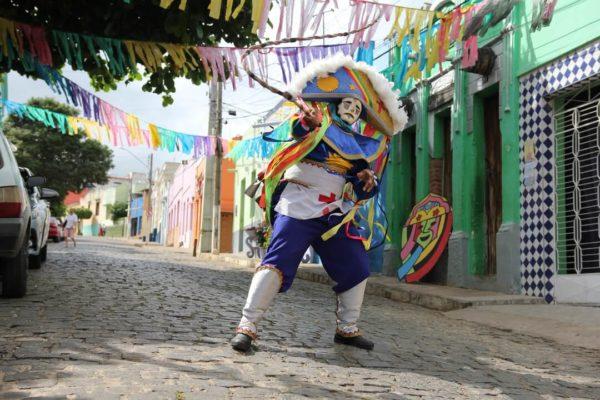 masked carnival performer known as caretas