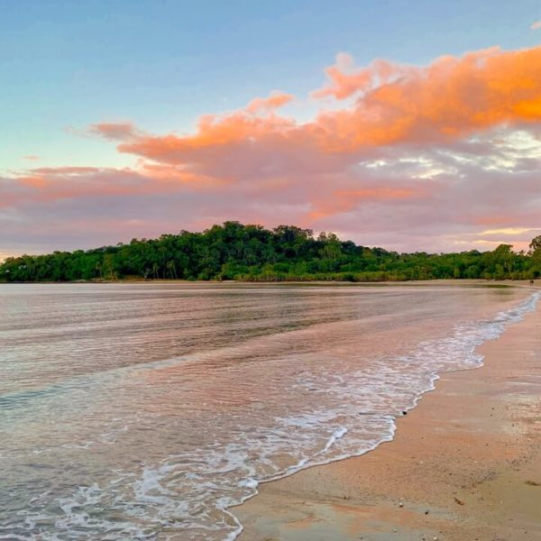 beach sunset in tropical north queensland