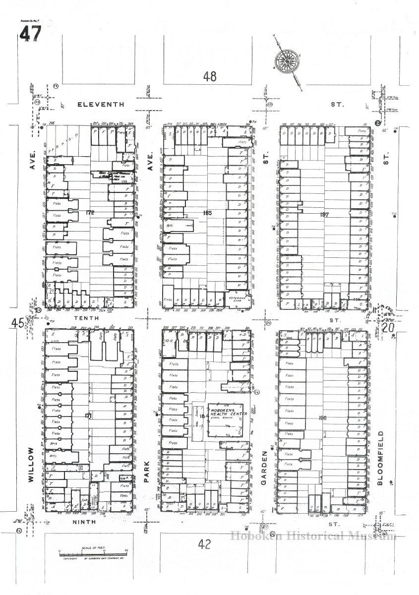 Sanborn Map, Hoboken, Hudson County, N.J., Volume 7. Key