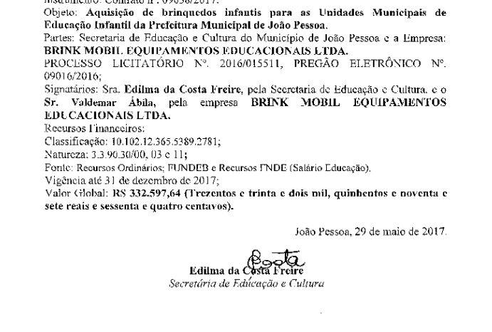 edilma 2 - Edilma assinou contratos milionários com empresa investigada pela Calvário; VEJA DOCUMENTO