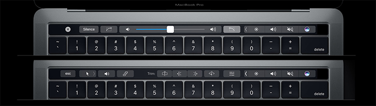 FCPX Touch Bar Controls