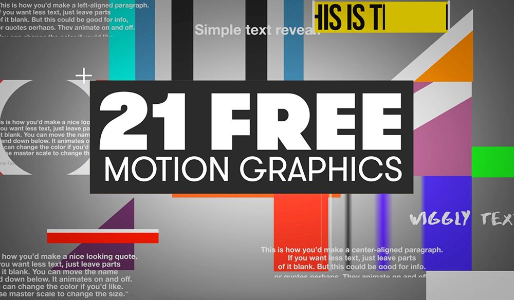21 free motion graphics