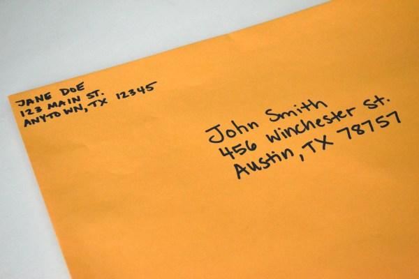 How to Address Large Manila Envelope