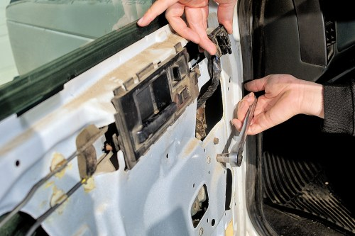 small resolution of replace the window regulator by removing the motor if applicable and unbolting the regulator from the door it can be removed