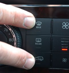 press and hold the defrost and recirculated air buttons simultaneously the defrost button has three lines going through it while the recirculated air  [ 3000 x 2000 Pixel ]