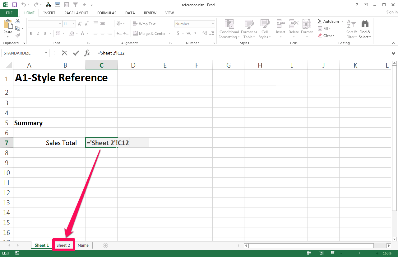 How Do I Reference A Cell In Another Worksheet In Excel