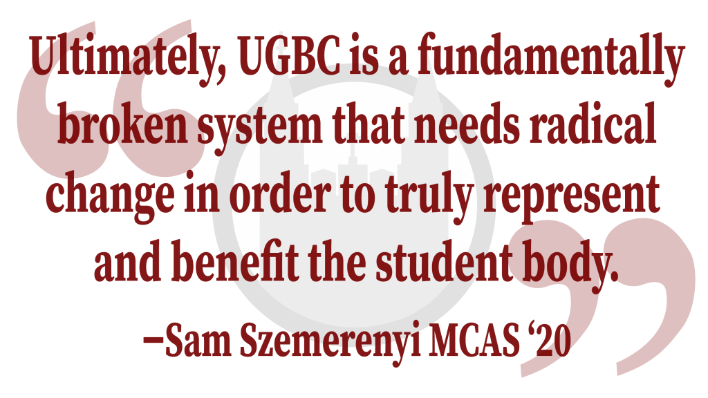 """Letter to the Editor: In Response to """"The New England Classic Calls for Abolition of UGBC"""""""