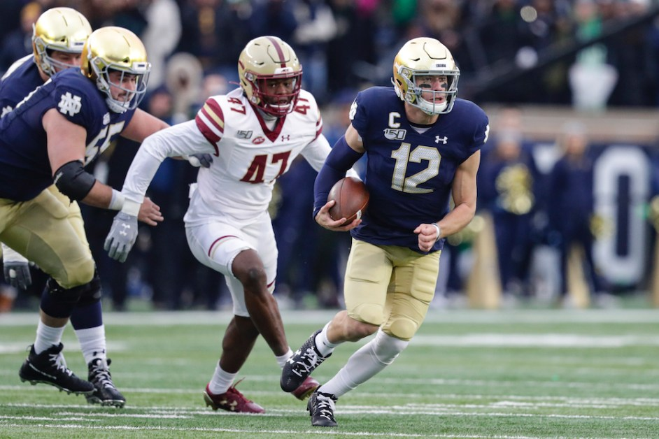 Book, Irish Score 34 Unanswered Points in Blowout of BC