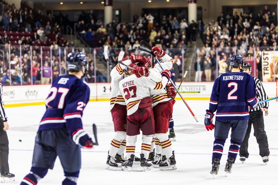 Newhook's Two Goals Spark BC to 6-0 Win Over UConn