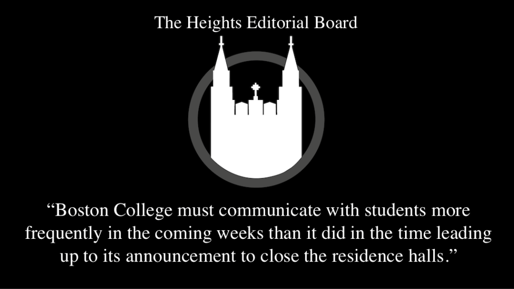 Boston College Was Inefficient in Communicating With Students, Faculty, and Staff Regarding Closing